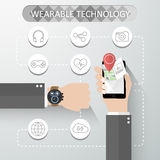 Wearable technology concept Stock Photography