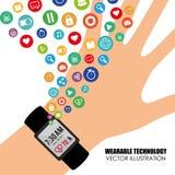Wearable technology vector illustration