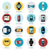 Wearable Technology Icons Stock Photography