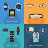 Wearable Technology Set Stock Photos