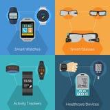 Wearable Technology Set Stock Photos