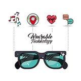 Wearable technology smart glasses icon image Stock Photo