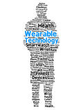 Wearable technology word cloud in the shape of a man Stock Photography