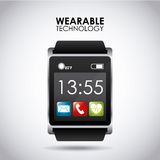 Wearable teknologi stock illustrationer