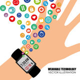 Wearable teknologi vektor illustrationer