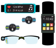 Wearables isolated  Stock Image