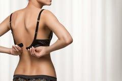 Wearing bra Stock Photo