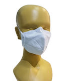 Wearing breath mask for protect dust particles pass into nose. Stock Photo