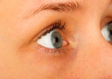 Wearing Contact Lenses Royalty Free Stock Photography
