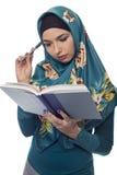 Wearing femminile autore un Hijab Fotografia Stock Libera da Diritti