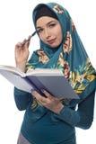 Wearing femminile autore un Hijab Immagine Stock Libera da Diritti
