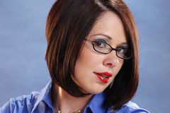 Wearing glasses Royalty Free Stock Image