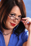 Wearing glasses royalty free stock photography