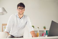 Wearing glasses Royalty Free Stock Photo