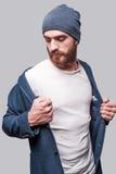 Wearing his favorite jacket. Stock Images
