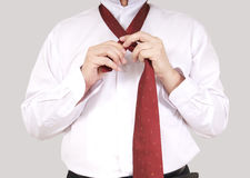 Wearing necktie Royalty Free Stock Photography