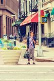 Young Japanese man traveling in New York Stock Images