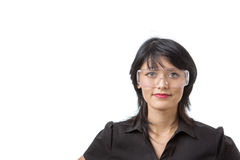 Wearing protective goggles Stock Photos