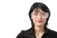 Wearing protective goggles Royalty Free Stock Images