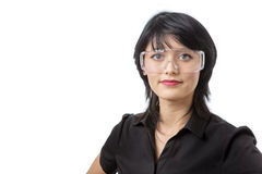 Wearing protective goggles Stock Images