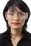 Wearing protective goggles Royalty Free Stock Photos