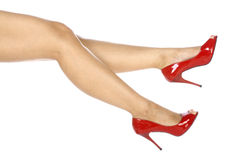 Wearing Red Shoes Stock Photography