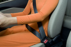 Wearing Safety Belt Stock Images
