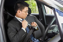 Wearing seat belt Royalty Free Stock Photos