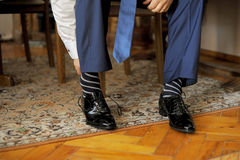 Wearing Shoes Stock Images