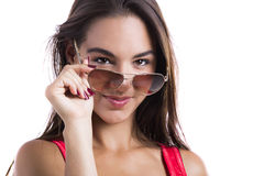 Wearing sunglasses Stock Photo