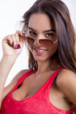 Wearing sunglasses Royalty Free Stock Images