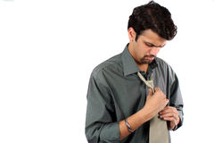 Wearing a Tie Stock Photography