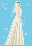 Wearing a wedding dress women Royalty Free Stock Photography