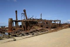 Weark em uma praia arenosa Imagens de Stock Royalty Free