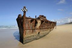 Weark sur une plage sablonneuse Photographie stock libre de droits