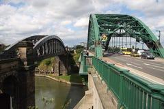 Wearmouth y puentes del carril Imagen de archivo libre de regalías