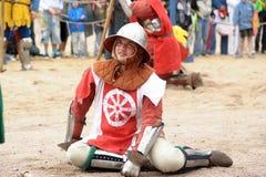 Weary knight Stock Photo