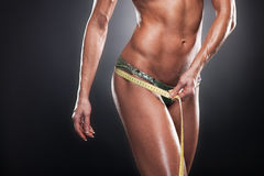 Weasuring of hips. Stock Images