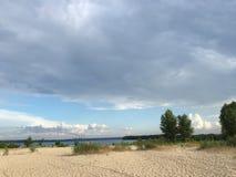 Weateher nublado en Ucrania Imagen de archivo