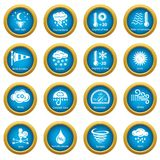 Weater icons set, simple style. Weater icons set. Simple illustration of 16 weater vector icons for web Vector Illustration