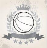 Weath del laurel del baloncesto del Grunge ilustración del vector