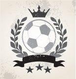 Weath del laurel del fútbol del Grunge stock de ilustración