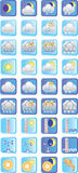 Weather. Set of vector icons on the theme «weather Stock Photos