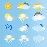 Weather and air vector Royalty Free Stock Photos