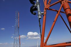Weather and Aircraft Antennas Stock Photography