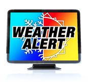 Weather Alert - High Definition Television HDTV Royalty Free Stock Photos