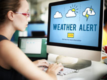 Weather Alert Prediction Forecast News Information Concept Royalty Free Stock Photography