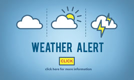 Weather Alert Prediction Forecast News Information Concept Royalty Free Stock Photos