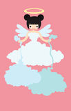 Weather  Angel Cloudy. Weather Cute Angel Cloudy pink girl Royalty Free Stock Image