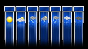 Weather animated icon set Stock Photo